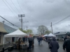 Cold raining day at farmers market on April 24th. The Market moved back to Pioneer Park Pavilion around Mother's Day. It runs every Saturday from 9 a.m. to 2 p.m.
