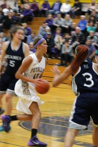 Junior Addie Picha goes up for a lay-up in the game against Todd Beamer Jan. 7. The Lady Vikings lost after being up by one at the half.