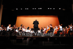 Woodwind, brass and percussion players from Puyallup High School's Symphonic Wind and Percussion Ensemble  came onstage to form the Symphony Orchestra.