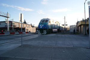 SoundTransit train Puyallup Station Feb. 5