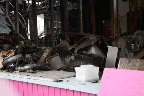 """The fire department says that it appears that [the cause of the fire] is related to the water heater that was located in the Sales Family restaurant, which was on the north west corner of the Evergreen Hall,"" Washington State Fair Public Relations Counsel Karen J. LaFlamme said."