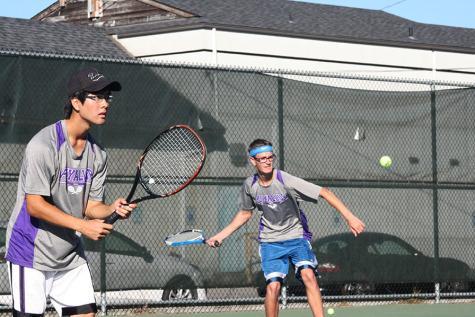 The boys tennis team faced Bethel High School Oct. 6 and won 5-0.