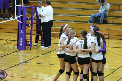 The Puyallup volleyball team faced Bethel High School Oct. 14 and lost 0-3.