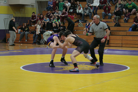The boys wrestling team faced Bethel High School Dec. 10 at home and lost the match.