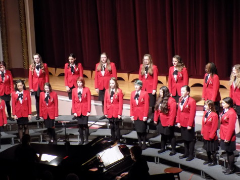 The Aylen Choraliers perform a Hebrew Folk Song arranged by the American composer Brant Adams. Junior High Schools join Puyallup for a choir concert Jan. 21. Aylen, Edgemont and Kalles junior high schools were all present.