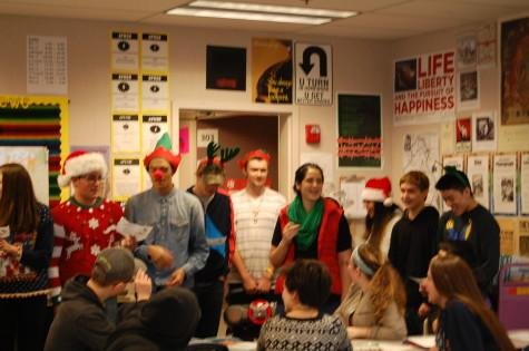 Teacher Marla Boyd's Spanish class went around the school Thursday, Dec. 18 singing famous carols in spanish.