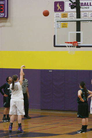 Sophomore Rachael Allen makes a free throw. The girls basketball team won against Spanaway Lake High School  Jan. 13 with a score of 57-41.