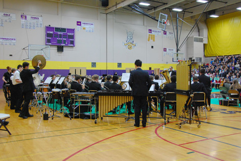 Puyallup High School's Wind Ensemble performs. Puyallup High School's Wind Ensemble performed with band students from Edgemont, Aylen and Kalles Junior High Feb. 2 at the Region Three concert with sixth grade band students, also from the region.