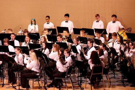 "The Symphonic Band performs ""Scenes of Wonder"". The Percussion and Wind Ensemble along with the Jazz, Concert and Symphonic Bands performed March 23 at the band concert held in the auditorium."