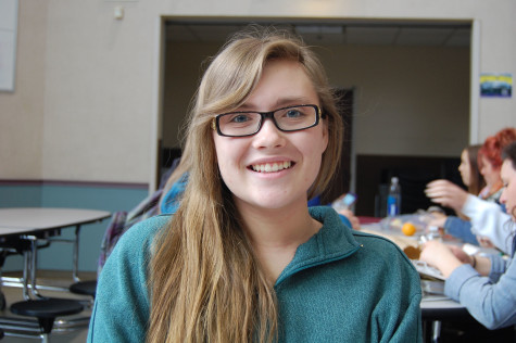 """In five years hopefully I will be at a college in Alaska studying marine biology and then when I have time I plan on traveling the United States and singing on the streets,"" sophomore Sarah Larson said."