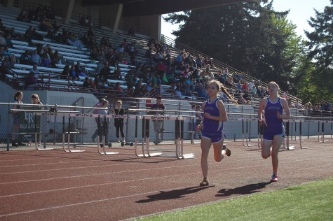 "After a grueling two mile race, Puyallup's very own senior Mary Josten grabs another first place title. ""It was very stressful...It was two miles,"" Josten said as she looks to move on to the post-season. PHS Track and Field took first against Emerald Ridge and Rogers May 7."