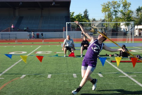 "It is all about perfection. ""Everything was wrong about that last throw,"" senior Cameron Hawskins said. PHS Track and Field took first against Emerald Ridge and Rogers May 7."