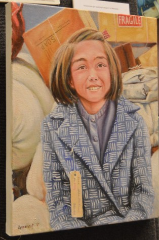 Some of Demarest's portraits capture the light-hearted moments that happened during World War II, such as this smiling girl who lived during the World War II era.
