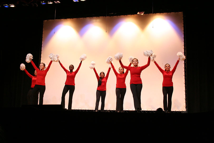 The PHSs very own dance team. At the Veterans day assembly.
