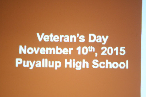 The date of the assembly. The Veterans day assembly.