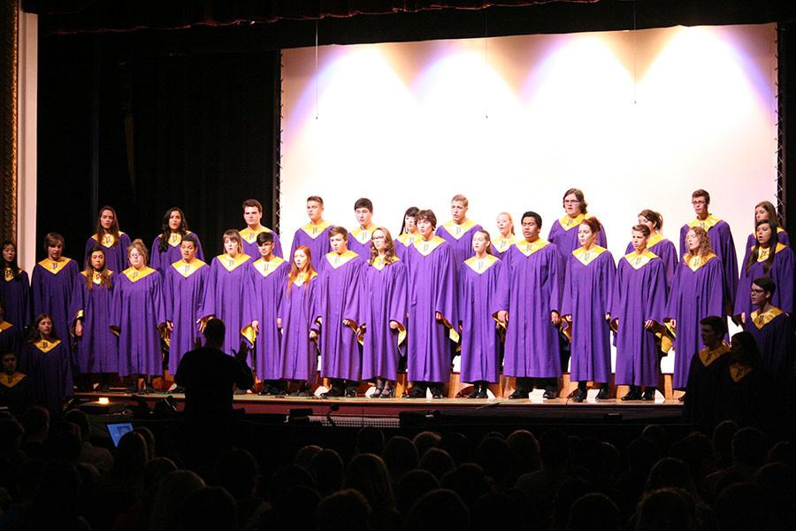 The Concert Choir. At the PHS Veterans day assembly.