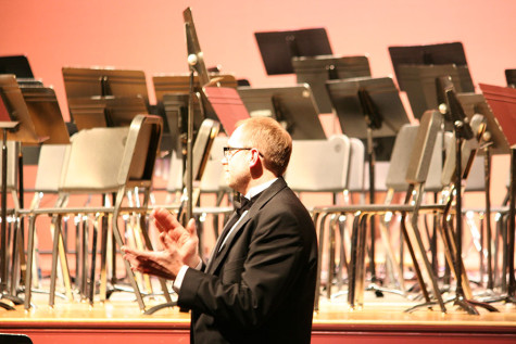 The band director, Eric Ryan. At the December band concert.