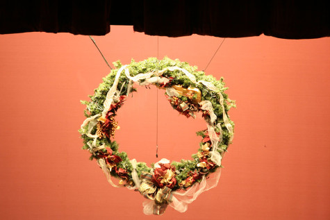"The ""Ginormas"" wreath. At the December band concert."