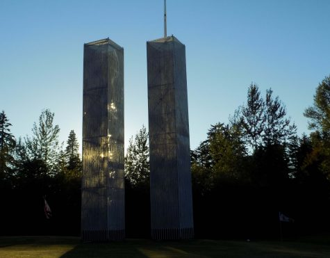 """In honor of 9/11, Tim Jorgenson built replicas of the twin towers for his front yard. He spent over 1,000 hours and $12,000 building the towers. """"I have a big shop back there. I bought all the materials. I spent a lot of time designing on the computer and I worked with an architect for the fundamental design,"""" Jorgenson said."""