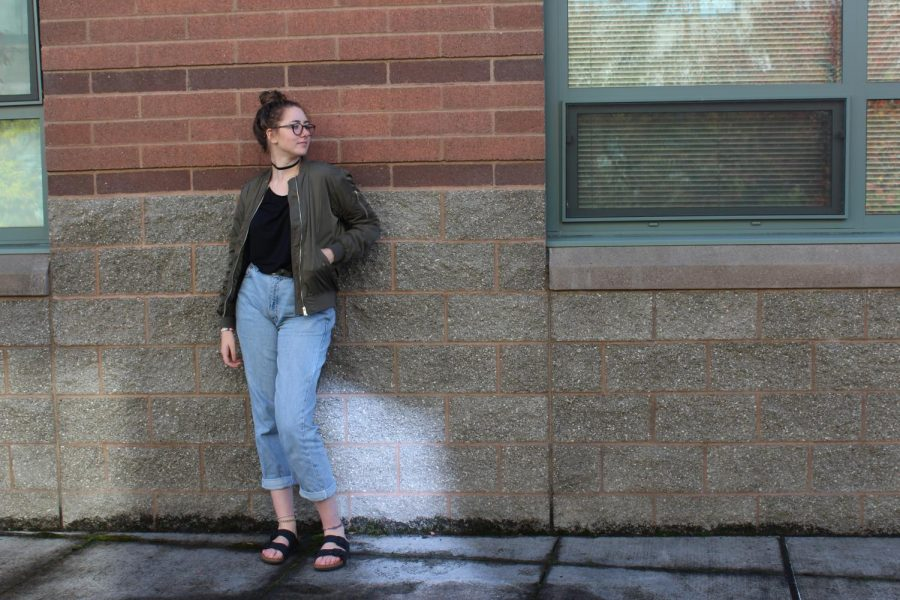Senior%2C+Jory+Duvall%2C+shows+off+her+sense+of+style+through+distressed+denim.+%22I+wear+distressed+denim%2C+because+the+denim+I+wear+rips+easily+and+I+am+too+cheap+to+buy+new+ones%2C%22+Duvall+said.+Duvall+also+loves+wearing+bomber+jackets+and+says%2C+%22I+wear+bomber+jackets%2C+because+they+are+cute%2C+convenient+and+warm.+They+also+match+most+of+my+clothing.