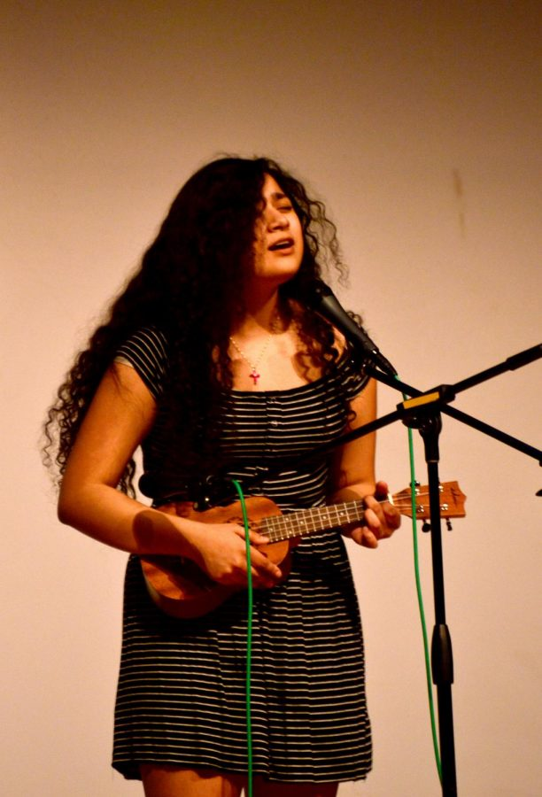 "Paula Huerta took third, singing ""Girl Crush"", accompanying herself on ukulele."