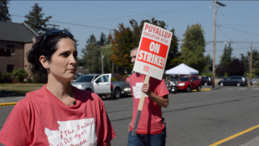 Teachers Strike for Raise