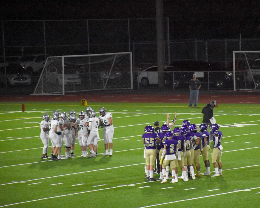 The football game on Friday September 13 at Sparks Stadium was against Emerald Ridge. Our Vikings played an amazing game. Some of our Vikings seen in this picture is Ben Schumock (55), Joseph Dwyer (2), Kaden Nelson (8), Sermon Wilson (4). The boys had done a great job in Friday with the ending score being 42-0.