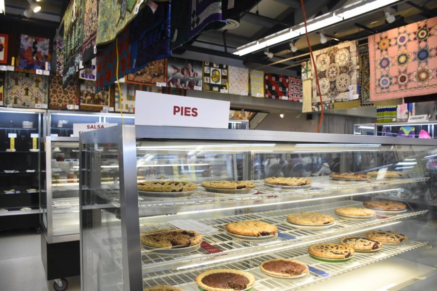 This years pie contest had many participants. There was a variety of pies, from apple, to blueberry, to pecan. The contest had five blue ribbon winners, four red ribbon winners and four white ribbon winners.