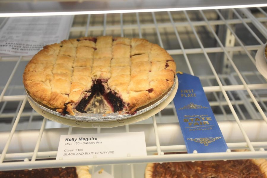 One of the pie contest winners this year was Kelley Maguire, winning with a blue and black berry pie. She had one of the best pies this year.