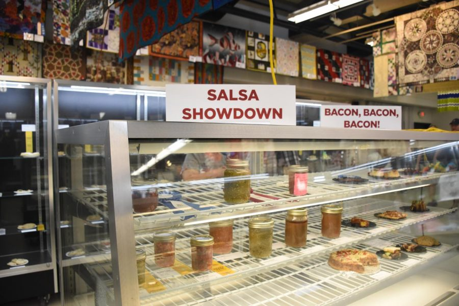 Another one of the contests this year was the salsa showdown. 10 people had competed this year and there was only one blue ribbon winner, one red ribbon, and  three yellow ribbon winners.