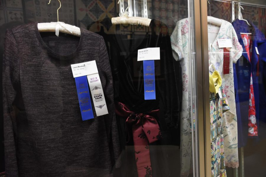 One of the winners was Wendy Willats in the 100 division and class 1230. Willats made a black sheer dress with a maroon and black bow. The other winner who was the best in the category was Laura Mendoza in division 100 and class 1130. Mendoza had made a long sleeved grey black dress.