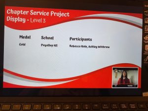 The PHS FCCLA chapter earned a Gold Medal for their Chapter Service Project Display, announced today (7/9).